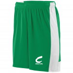 Columbia Raiders Wrestling, Shorts, Green with White Stripe