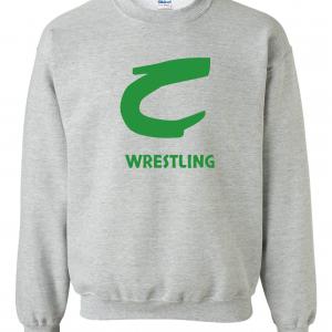 Columbia Raiders Wrestling, Grey Crewneck Sweatshirt