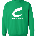 Columbia Raiders Wrestling, Green Crewneck Sweatshirt