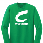 Columbia Raiders Wrestling, Green Long Sleeved