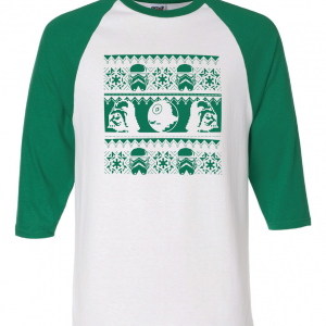 Vader / Stormtrooper Ugly Sweater Shirt, Green, Raglan