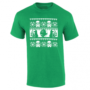 Vader / Stormtrooper Ugly Sweater Shirt, Green, T-Shirt