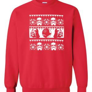 Vader / Stormtrooper Ugly Sweater Shirt, Red, Sweatshirt