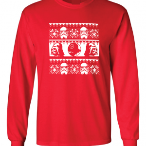 Vader / Stormtrooper Ugly Sweater Shirt, Red, Long Sleeved