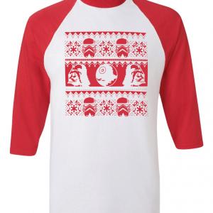 Vader / Stormtrooper Ugly Sweater Shirt, Red, Raglan