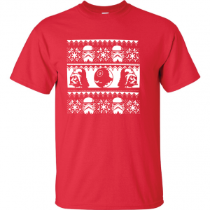 Vader / Stormtrooper Ugly Sweater Shirt, Red, T-Shirt
