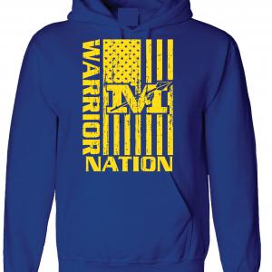 Warrior Nation - Mariemont, Blue Hoodie