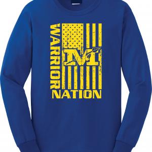Warrior Nation - Mariemont, Blue Long Sleeved
