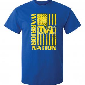 Warrior Nation - Mariemont, Blue T-Shirt