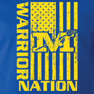 Warrior Nation - Mariemont, Blue/Yellow, Hoodie, Long Sleeved, T-Shirt