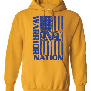 Warrior Nation - Mariemont, Gold Hoodie