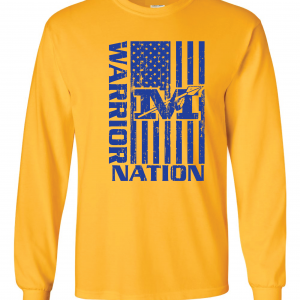 Warrior Nation - Mariemont, Gold Long Sleeved