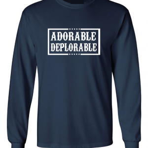 Adorable Deplorable - Navy, Long Sleeved