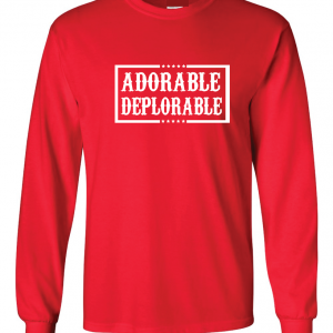 Adorable Deplorable - Red, Long Sleeved
