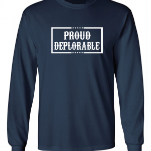 Proud Deplorable - Navy, Long Sleeved