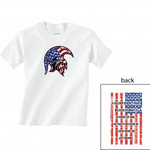 Glen Este Trojan Head/Flag, White, T-Shirt