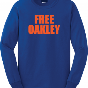 Free Oakley, Royal Blue, Long Sleeved