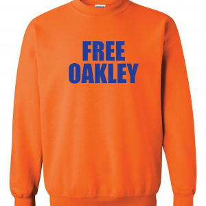 Free Oakley, Orange, Crew Sweatshirt