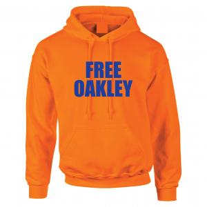 Free Oakley, Orange, Hoodie