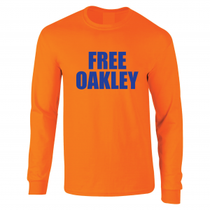 Free Oakley, Orange, Long Sleeved