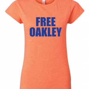 Free Oakley, Orange, Women's Cut T-Shirt