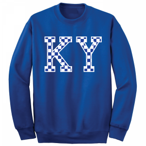 KY - Kentucky Wildcats, Crew Sweatshirt, Royal Blue