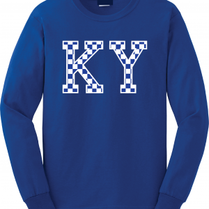 KY - Kentucky Wildcats, Long-Sleeved, Royal Blue