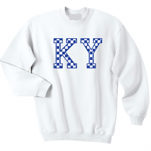 KY - Kentucky Wildcats, Crew Sweatshirt, White