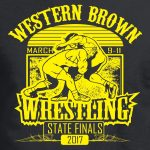 Western Brown Wrestling State Finals 2017, T-Shirt, Black