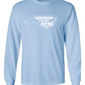 Championship State of Mind - North Carolina, Carolina Blue, Long-Sleeved