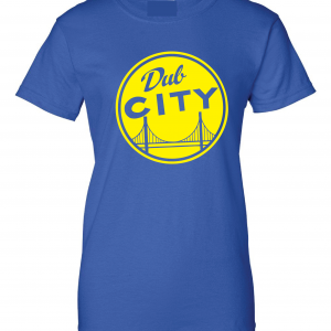 Dub City, Royal Blue Women's Cut T-Shirt
