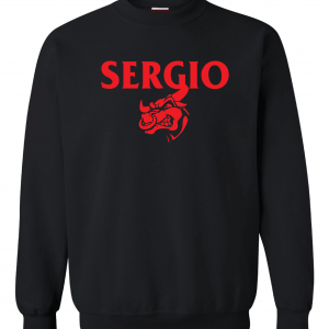 Sergio, Black, Crew Sweatshirt