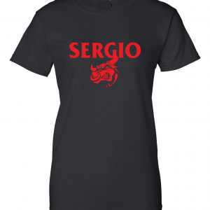 Sergio, Black, Women's Cut T-Shirt