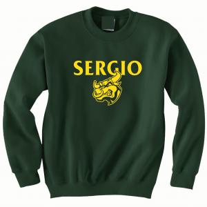 Sergio, Green, Crew Sweatshirt