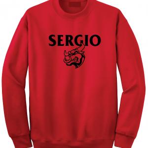 Sergio, Red, Crew Sweatshirt