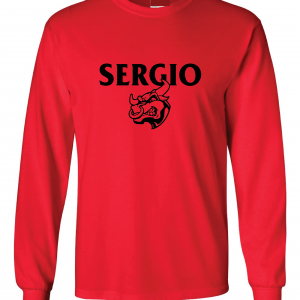 Sergio, Red, Long-Sleeved