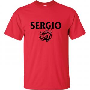Sergio, Red, T-Shirt