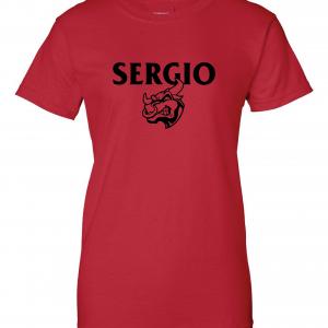 Sergio, Red, Women's Cut T-Shirt