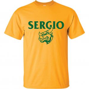 Sergio, Gold, T-Shirt