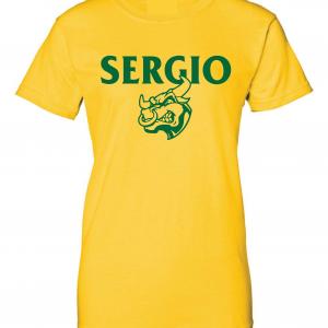 Sergio, Gold, Women's Cut T-Shirt