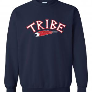 Tribe - Cleveland Indians, Navy, Crew Sweatshirt