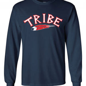 Tribe - Cleveland Indians, Navy, Long-Sleeved