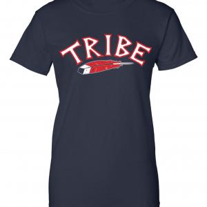 Tribe - Cleveland Indians, Navy, Women's Cut T-Shirt
