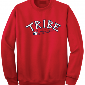 Tribe - Cleveland Indians, Red, Crew Sweatshirt