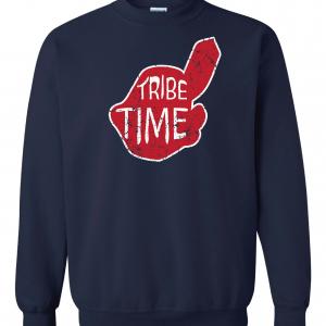 Tribe Time, Navy, Crew Sweatshirt