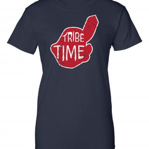 Tribe Time, Navy, Women's Cut T-Shirt