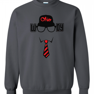 Woody (Woody Hayes) - Ohio State, Charcoal, Crew Sweatshirt