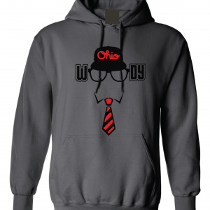 Woody (Woody Hayes) - Ohio State, Charcoal, Hoodie