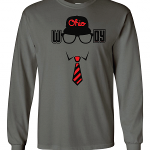 Woody (Woody Hayes) - Ohio State, Charcoal, Long-Sleeved