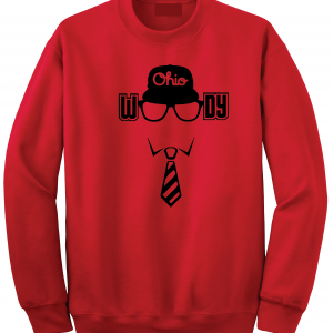 Woody (Woody Hayes) - Ohio State, Red, Crew Sweatshirt